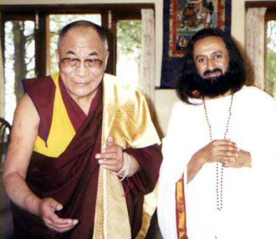 Photo: Sri Sri Ravi Sankar and the Dalai Lama